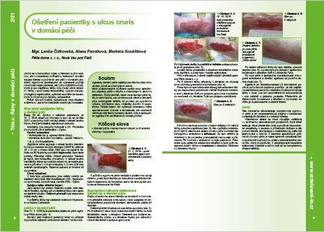 Ošetření pacientky s ulcus cruris v domácí péči